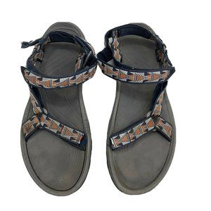 Teva 16 Mens Navy Blue Orange Sandals Shoes